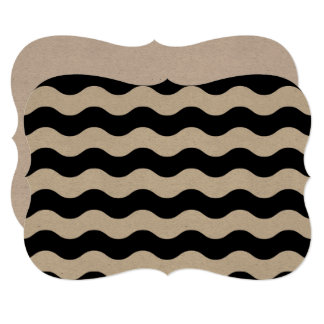 Banket luxury invitation with zig-zag stripes