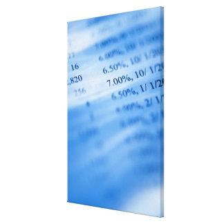 Banking charts canvas prints