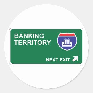 Banking Next Exit Classic Round Sticker