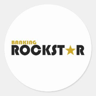 Banking Rockstar Classic Round Sticker