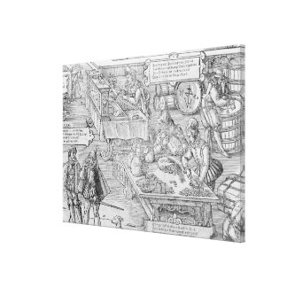 Banking Scene Gallery Wrapped Canvas