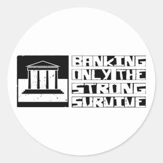 Banking Survive Classic Round Sticker