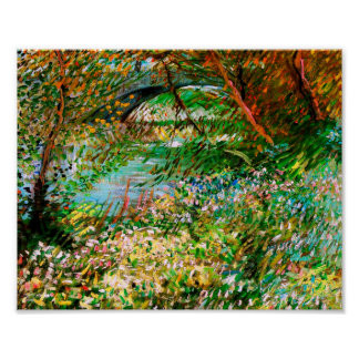 Banks of Seine Pont de Clichy Spring Van Gogh Fine Poster