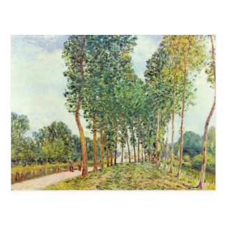 Banks of the Loing in Moret by Alfred Sisley Postcard