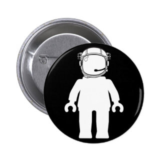 Banksy Style Astronaut Minifig 6 Cm Round Badge