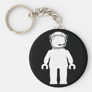 Banksy Style Astronaut Minifig Basic Round Button Key Ring