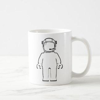 Banksy Style Astronaut Minifig Basic White Mug