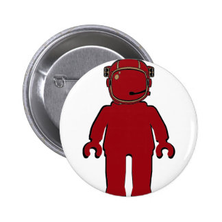 Banksy Style Astronaut Minifig Button