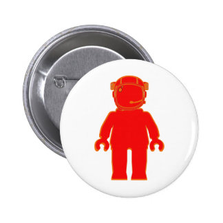 Banksy Style Astronaut Minifig Buttons
