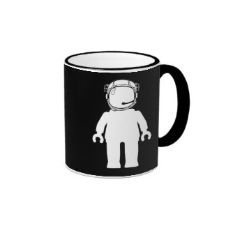 Banksy Style Astronaut Minifig Coffee Mugs
