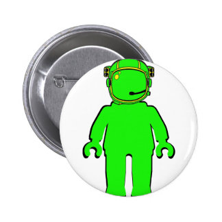 Banksy Style Astronaut Minifig Pin