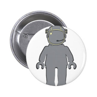 Banksy Style Astronaut Minifig Pinback Button