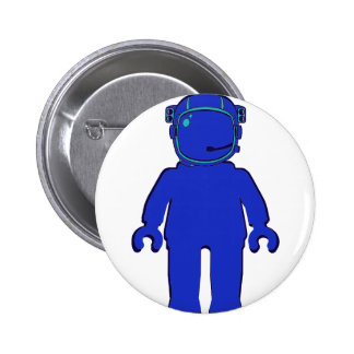 Banksy Style Astronaut Minifig Pinback Buttons