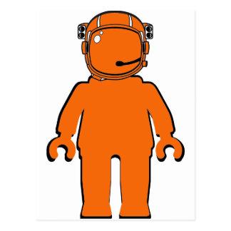 Banksy Style Astronaut Minifig Postcard