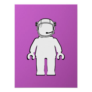 Banksy Style Astronaut Minifig Poster