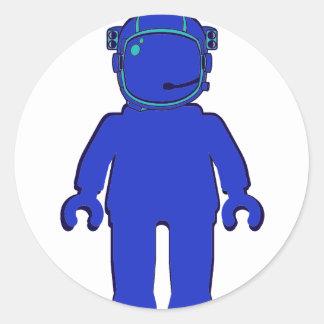 Banksy Style Astronaut Minifig Round Sticker