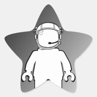 Banksy Style Astronaut Minifig Star Sticker