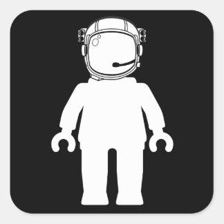 Banksy Style Astronaut Minifig Sticker
