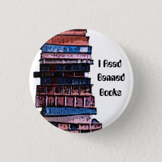 banned books 3 cm round badge