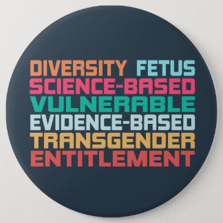 Banned Words 6 Cm Round Badge