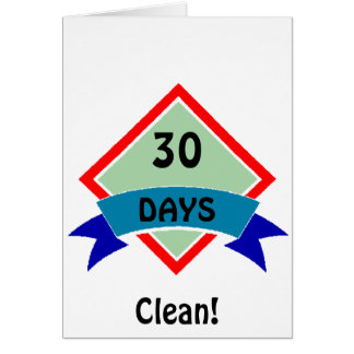 Banner 30 days clean card