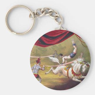 Banner Act Vintage Circus Art Keychain