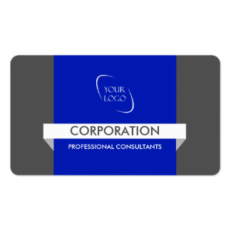 Banner and logo bold blue standard business cards