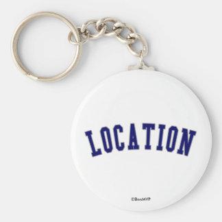 Banner Basic Round Button Key Ring