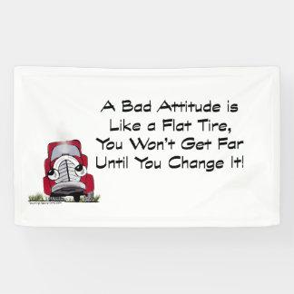 Banner Bulletin Board Bad Attitude Like Flat Tire