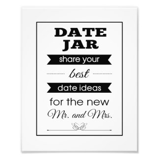 Banner Date Jar Wedding Sign Photograph