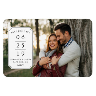 Banner Day | Photo Save the Date Rectangular Photo Magnet
