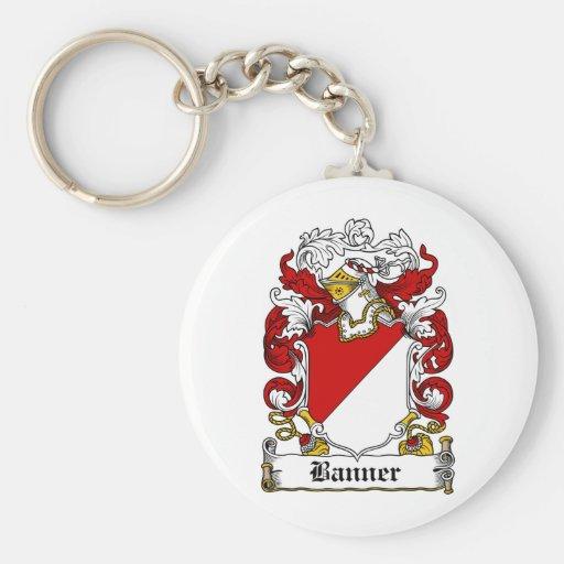 Banner Family Crest Keychain