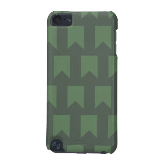 banner pattern dark green iPod touch (5th generation) cases