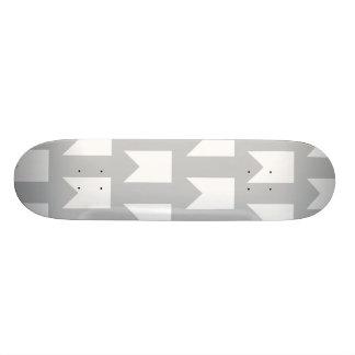 banner pattern grey and white skate board decks