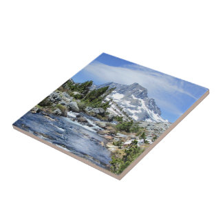 Banner Peak from Thousand Island - Sierra Nevada Tile