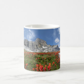Banner Peak Wildflowers - Ansel Adams Wilderness Coffee Mug