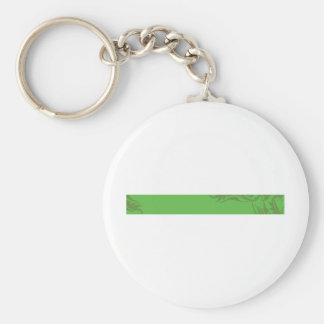 Banner-plant_green Basic Round Button Key Ring