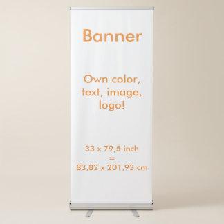 Banner Vertical Retractable uni White ~ Own Color