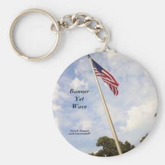 BANNER YET WAVE AMERICAN FLAG KEYCHAIN