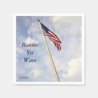 BANNER YET WAVE AMERICAN FLAG NAPKIN DISPOSABLE SERVIETTES