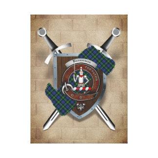 Bannerman Clan Badge Crossed Swords Canvas Print