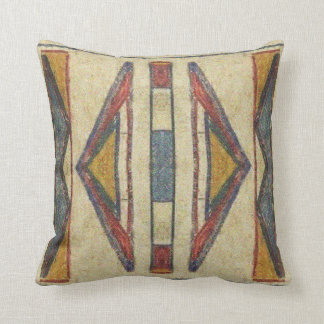 Bannock 1901 Parfleche design Throw Pillow