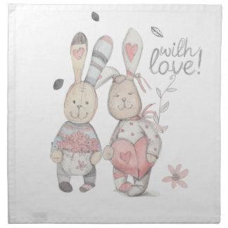 banny rabbit couple 2 napkin