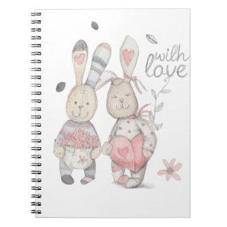 banny rabbit couple 2 notebooks