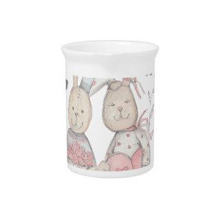 banny rabbit couple 2 pitcher