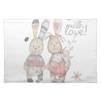 banny rabbit couple 2 placemat