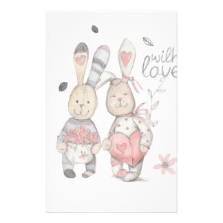 banny rabbit couple 2 stationery