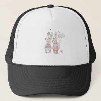 banny rabbit couple 2 trucker hat