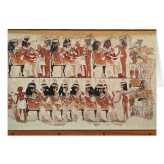 Banquet scene, from Thebes, c.1400 BC Card