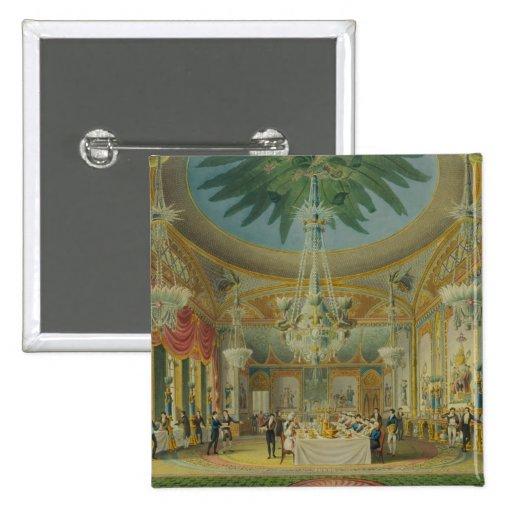 Banqueting Room, from 'Views of Royal Pavilion Pin